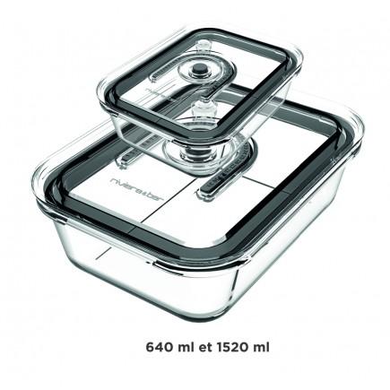 PSV960 - Kit de 2 boites en verre sous-vide de l'appareil de mise sous-vide PSV760