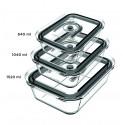 PSV970 - Kit de 3 boites en verre sous-vide de l'appareil de mise sous-vide PSV760